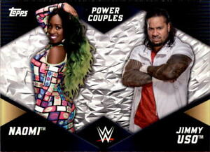 2018 Topps WWE Power Couples Naomi & Jimmy Uso #PC-5