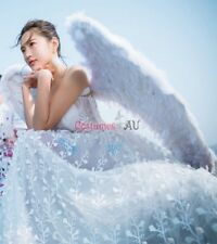 100cm X 80cm Feather Wings White Angel Fairy Black Devil Halloween Plus Size