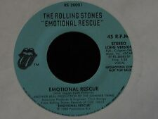 The Rolling Stones-Emotional Rescue-1980 US Long/Short PROMO 45-NEAR MINT!