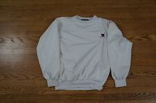 Rare Vintage Polo Ralph Lauren Golf Patch White Pullover Size Medium