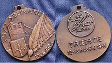 MEDAGLIA A.N.A. 57.a ADUNATA NAZIONALE DEGLI ALPINI TRIESTE ANNO 1984 - BRONZO 2