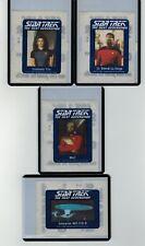 1987 STAR TREK THE NEXT GENERATION STICKERS LOT OF 4 CHEERIOS
