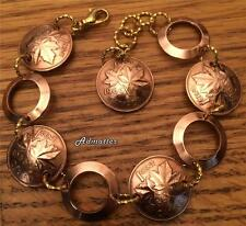 1982 CANADIAN PENNY BRACELET 35th BIRTHDAY ANNIVERSARY GIFT GOLD & COPPER RINGS!
