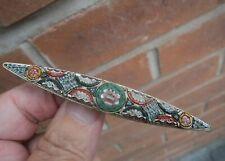 Floral Italian Brooch c.1920/40s Attractive Large Vintage Micro Mosaic