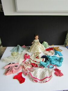 Vtg American Character BETSY McCALL Brunette DOLL HUGE GROUP OF CLOTHING