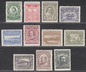 Newfoundland 1910 King George V Set Perf 12 Mint SG95-105 cat £475 with faults