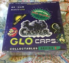 """CASPER 1995 SEALED NEW BOX GLO CAPS TAZOS """"""""""""RARE"""""""""""""""