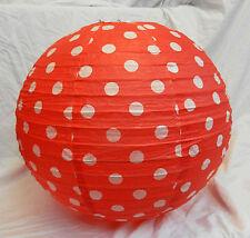 Vintage Retro Look Red Polka Dot Paper Lightshade / Light Shade - BNIB