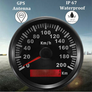 200KM/H Digital GPS Speedometer Gauge Car Motorcycle Truck Odometer