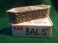Stone Style Bridge support pier  -OO Scale HO Scale 32mm Tall Rough Stone
