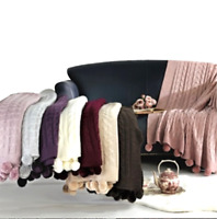Premium Kuscheldecke Tagesdecje Sofa Decke Wohndecke 130x170cm