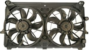 Dorman Fan Electric Dual Black Plastic Blades Shroud Cadillac Chevy GMC Each