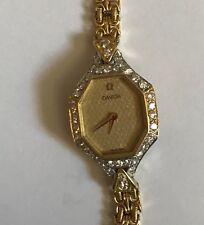 Montre Omega or et diamants rare et atypique de 1980