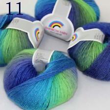 AIP Soft Cashmere Wool Colorful Rainbow Wrap Shawl DIY Hand Knit Yarn 50grx4 11