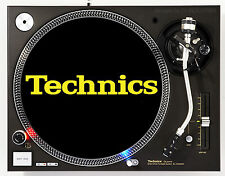 TECHNICS CLASSIC YELLOW ON BLACK - DJ SLIPMATS (1 PAIR) 1200's or any turntable