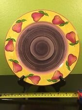 Essex Collection BOIS D'ARC Tutti Fruiti PEAR Fruit Dinner PLATE Outlaw Portugal