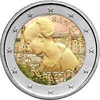 2 Euro Gedenkmünze San Marino 2020 coloriert / mit Farbe Farbmünze Raffael  3