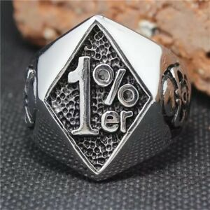 Mens Biker motorcycle 1% Ring Sons Of Anarchy