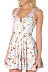 Black Milk Clothing XXS You Scream Ice Cream Reversible Skater Dress