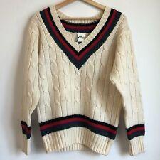 Vtg 1980s Nike John McEnroe Knit V-Neck Tennis Sweater Medium M