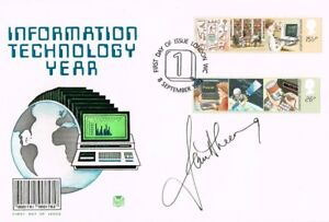 JAN LEEMING SIGNED INFORMATION TECHNOLOGY YEAR FIRST DAY COVER