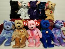 LOT OF 10 BEANIE BABIES INCLUDES PRINCESS DIANA ALL CLUBBY BABIES THE END