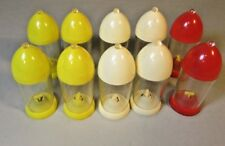 Lot of 5 sets Vintage Salt & Pepper Shakers bullet Kasin Red Yellow White Deco