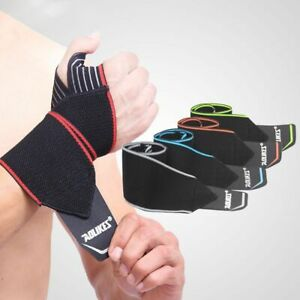 Wrist Support Strap Wraps Weightlifting 1 Pair Training Hand Band Fitness Safety