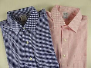 Brooks Brothers Regent Supima Stretch Non Iron Gingham Plaid Dress Shirt 92 NWT