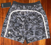 "NWT RARE REFLECTIVE CAMO Lululemon Pace Breaker Shorts 9"" Linerless Gray Black M"