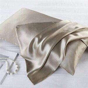 Luxbedding Satin Pillowcase Pillow Cases Standard Size, Cooling Satin Pillowcase