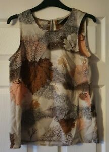 New Vera Moda Brown Mix Blouse Top Size 8