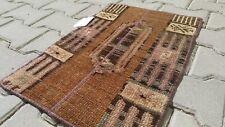Vintage 1x2 ft Small Rug,Doormat,Hand Made Rug Wool Rug,Turkish rug,Oushak Rug,