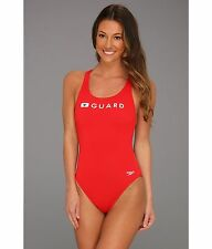 abdfcb5a99 SPEEDO LIFE GUARD TRAIN II SUPER PRO ONE PIECE SWIMSUIT RED SIZE 6   32 NEW
