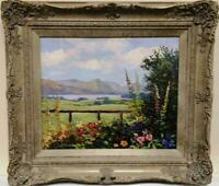 Lake District Garden  Original Framed Impressionist Oil Painting JEFF SUDDERS