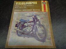 1969-75 Triumph T150 T160 Trident Rocket 3 BSA Owner Workshop Manual #2 1005