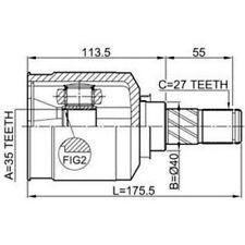 GELENKSATZ INNEN MITSUBISHI OUTLANDER/CITROEN C-CROSSER/PEUGEOT 4007/LINKS NEU!