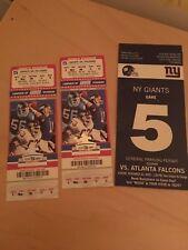New York GIants vs  Atlanta Falcons Novermber 22, 2009 Unused Tickets