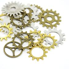 Assorted mixed metal Steampunk Gears, Small, in Organza bag