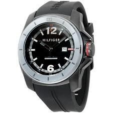 Tommy Hilfiger Black Dial Black Silicone Strap Men's Watch 1791114