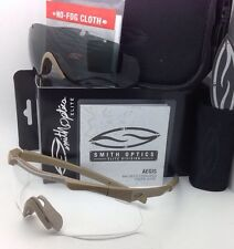 7fa45a90a4 New SMITH OPTICS AEGIS ARC EyeShield Field Kit Tan 499 with Clear   Grey  Lenses