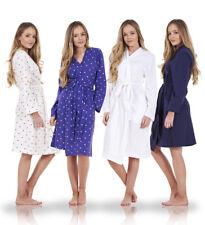 Ladies Quality Wrap Kimono 100% Cotton Printed Robe Womens Dressing Gown