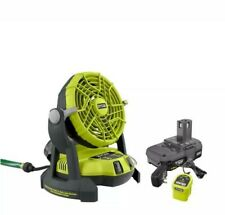 Ryobi 18-Volt One+ Bucket Top Misting Fan.Battery & Charger included Free Ship!