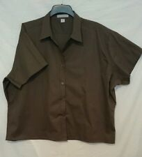 Port Authority Ladies Shirt in Chocolate with Short Sleeve Size 4 XL