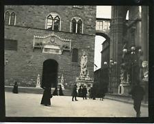 Italie, Florence, piazza della Signoria Vintage silver print,  Tirage argentiq