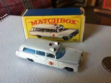 Matchbox Series #54 S & S Cadillac Ambulance--White--Nice Original Box