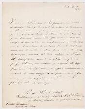 PIERRE DE TCHIHATCHEFF. Piotr Tchikhatchov. Botaniste Russe. Signé. 1845.