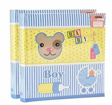 2 x Arpan Baby Boy Gift 6 x 4 Book Bound Photo Album Totaling 400 Photos Blue