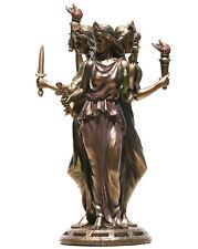 Hecate Hekate Griechische Dreifache Göttin Magie Statue Figure Bronze Überzogene