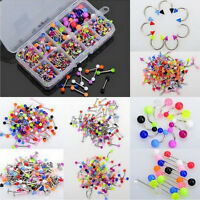 90x  Wholesale Body Jewelry Eyebrow Navel Belly Tongue Nose Piercing Bar Ring O